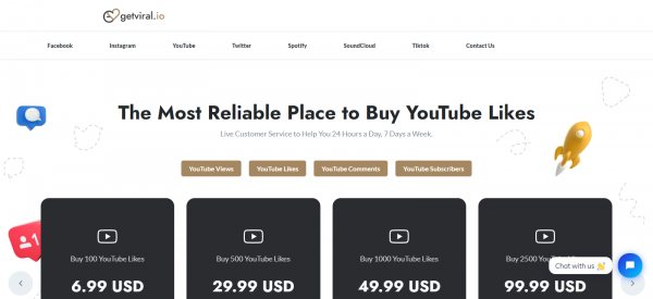 GetViral: Site To Buy YouTube Likes