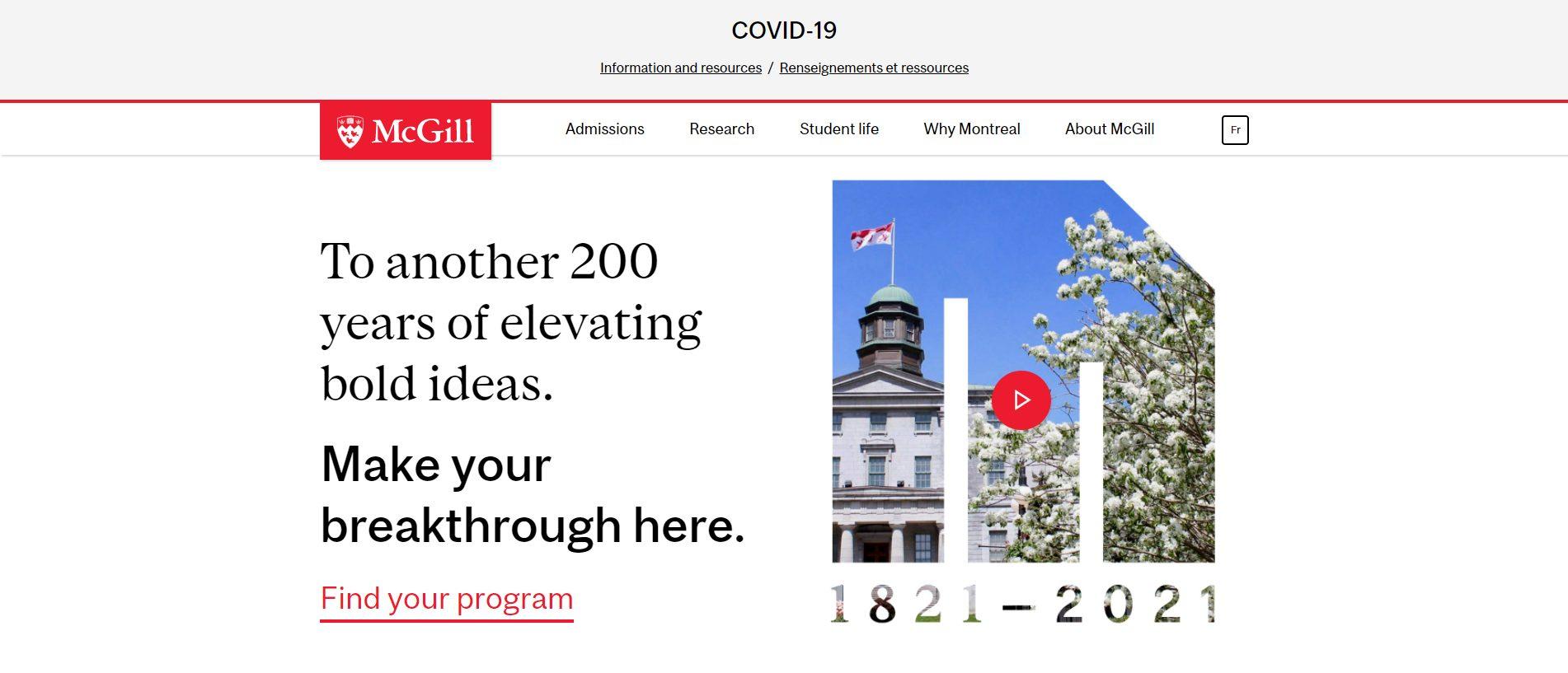 McGill University - Computer Science Universities In Canada