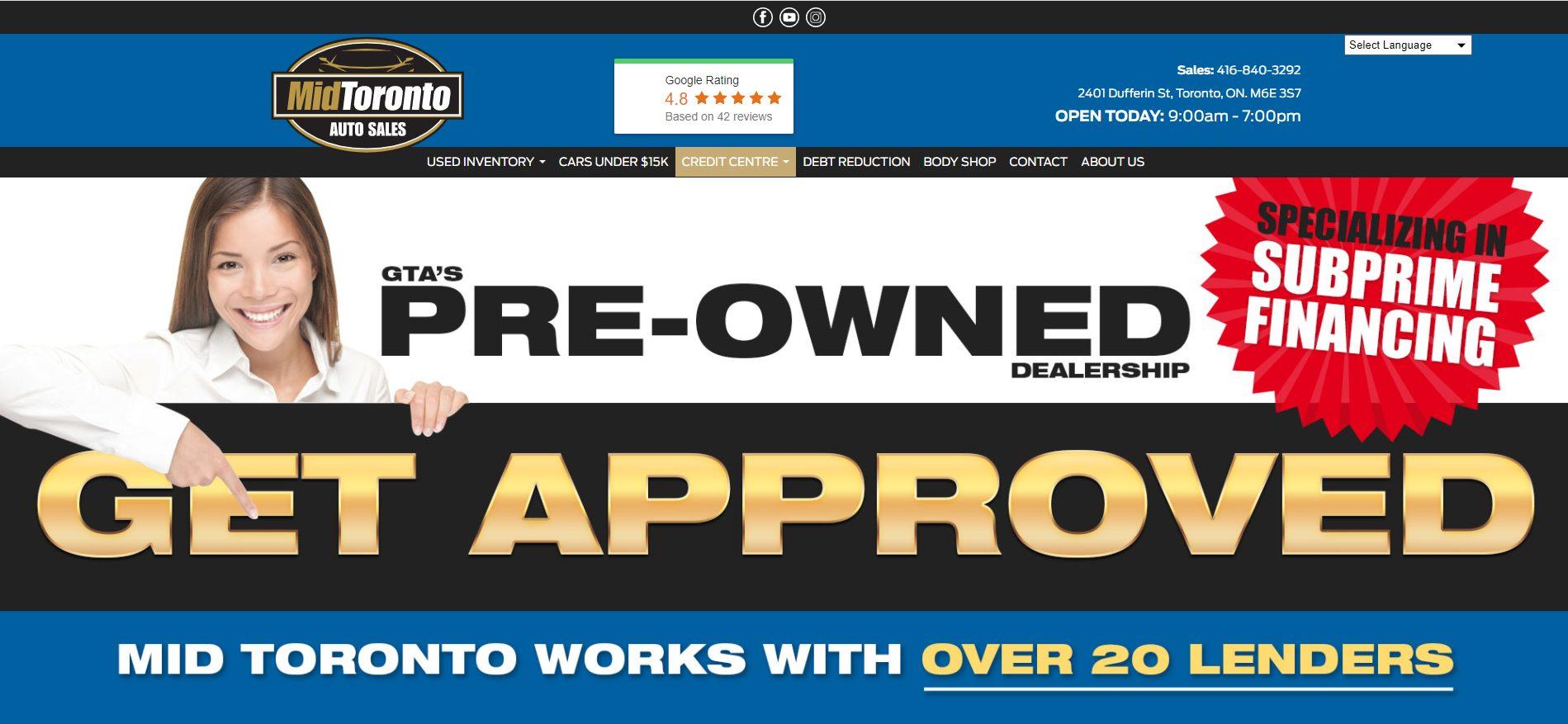 Mid Toronto Auto sales -used car dealerships