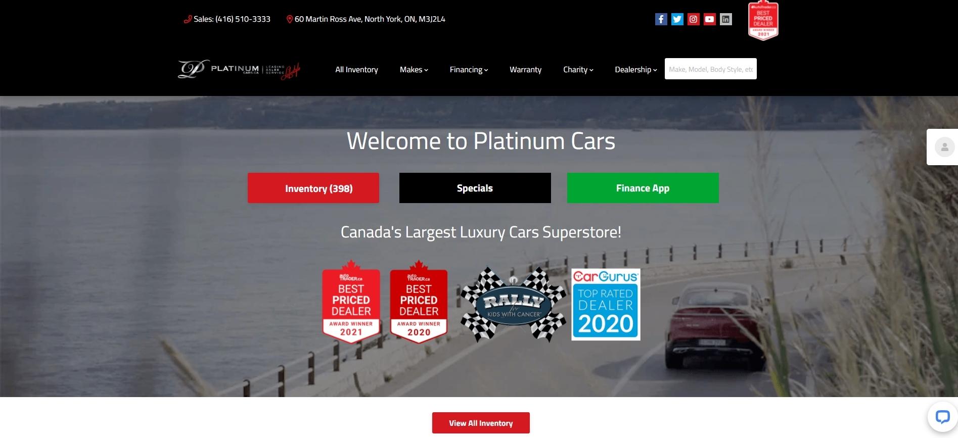 Platinum Cars -used car dealerships