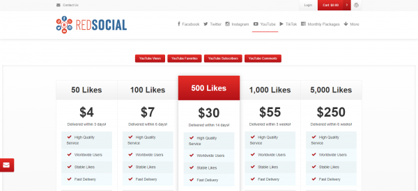 Red Social: Site To Buy YouTube Likes