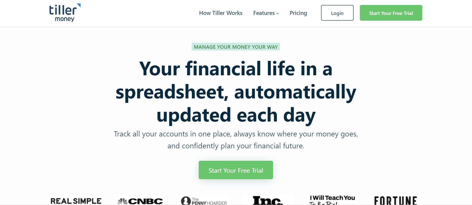 Tiller Money - Quicken alternatives