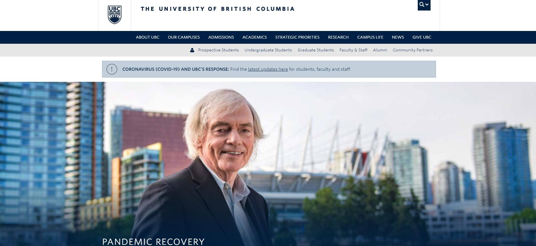 University of British Columbia - Computer Science Universities In Canada