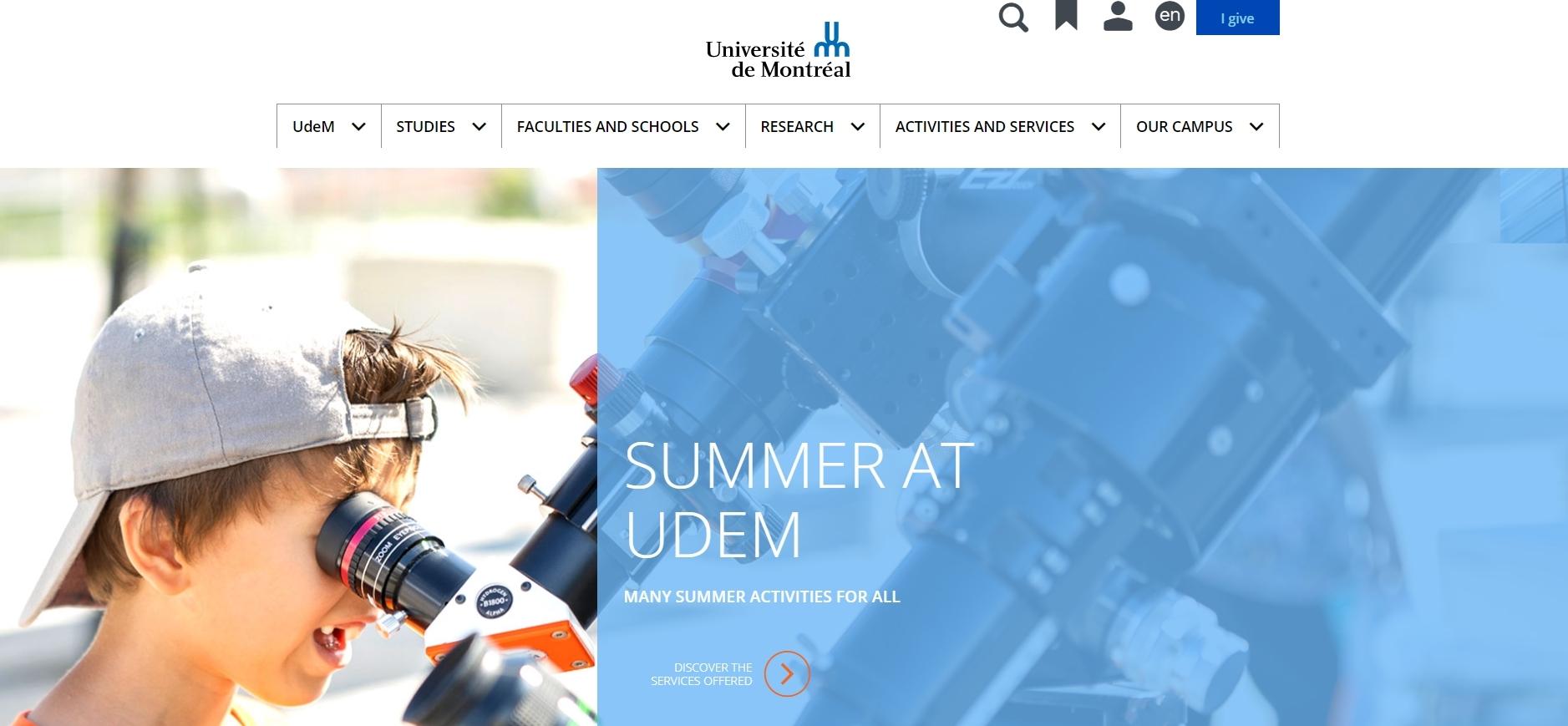 University of Montreal - Computer Science Universities In Canada