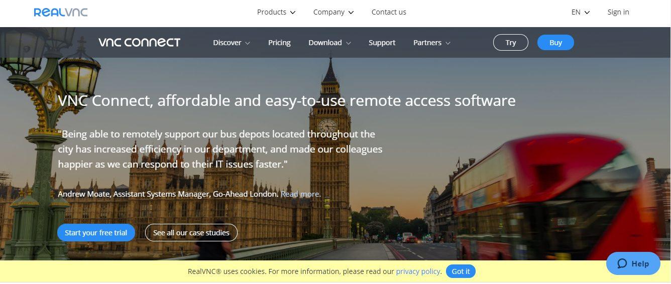 VNC Connect- LogMeIn Alternatives