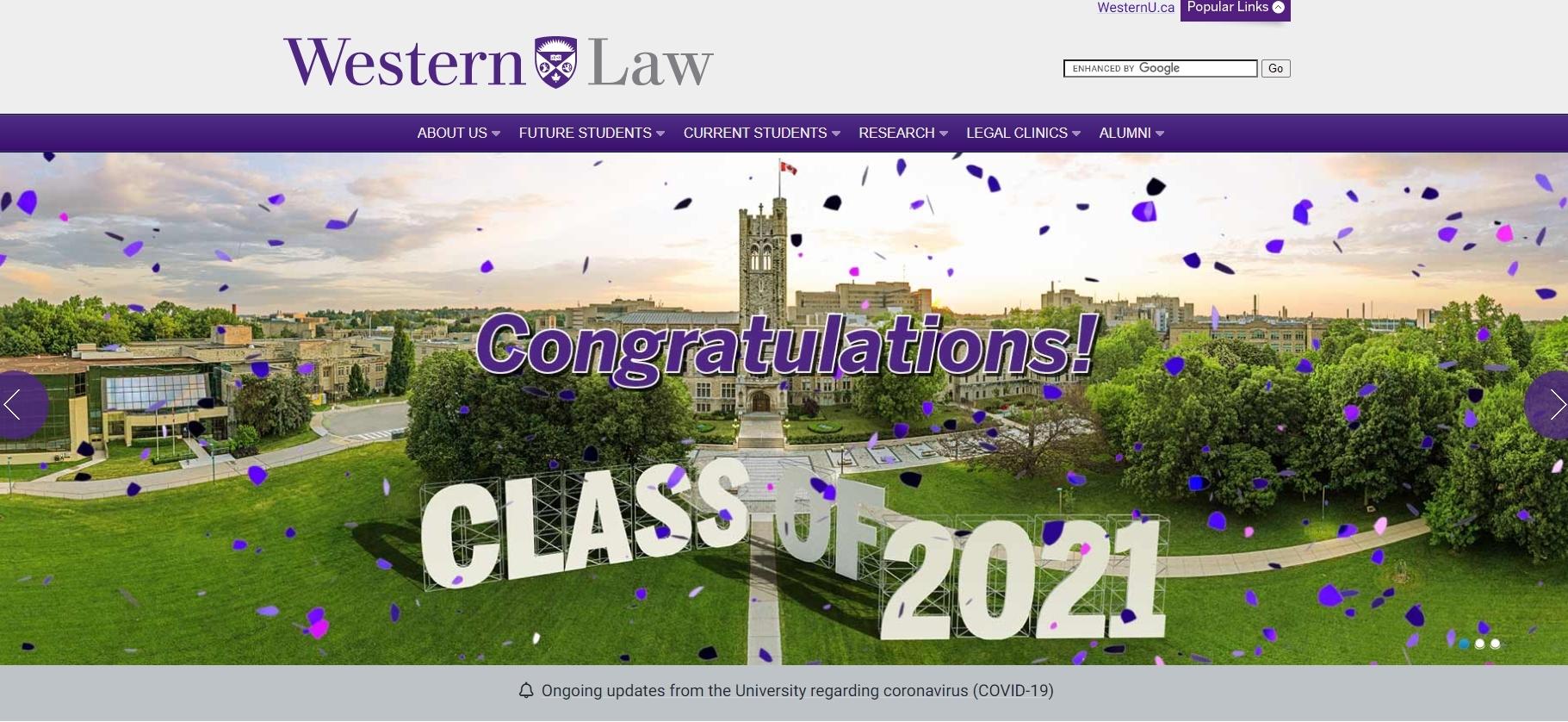 Western Law School : Best law Schools in Canada