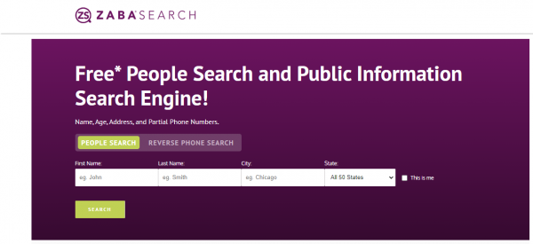 Zaba Search: White Pages Alternatives
