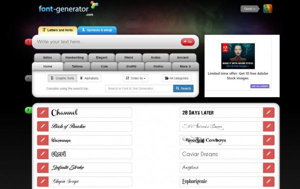 font-generator - Twitter Font Generator