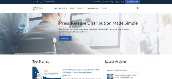 24-7 Press Release Newswire - Press Release Distribution Services