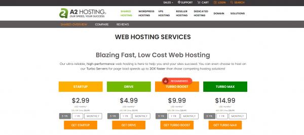 A2hosting - Shared Web Hosting