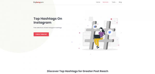 Bigbangram - hashtag generator