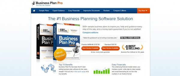 Business Plan Pro: Business Planning Tool