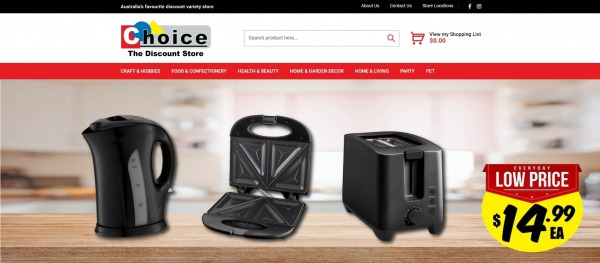 Choice Discount Variety- liquidation stores Australia