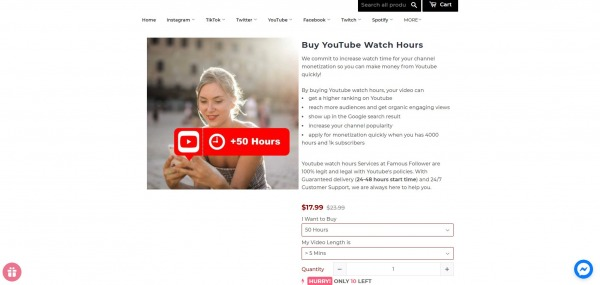 Famous Follower - Buy YouTube Watch Time