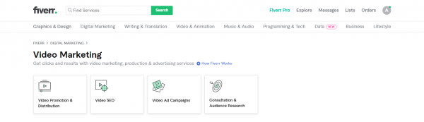Fiverr: YouTube Promotion Service Provider