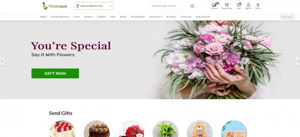 Flower Aura - Send Rakhi To India
