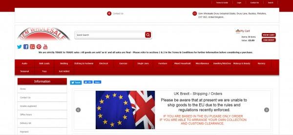 Gem Wholesale UK -Buy Liquidation Pallets
