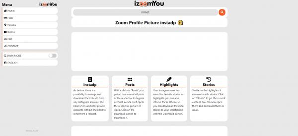 IZoomYou-Instagram profile viewer