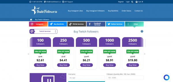 InstaFollowers-Buy Twitch Followers