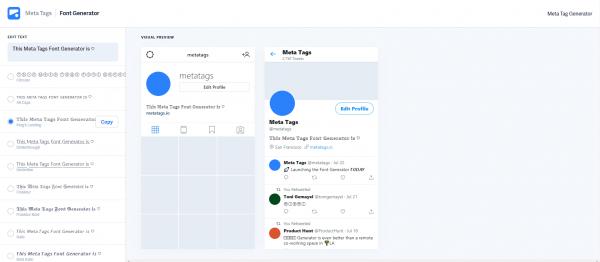 Meta Tags Font Generator - Instagram Font Generator