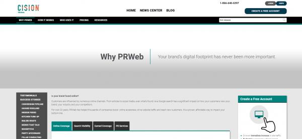 PRWeb - Press Release Distribution Services