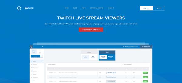 QQTube: Buy Twitch Live Views