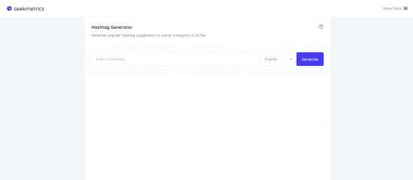 Seekmetrics - hashtag generator