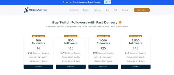 SidesMedia - Buy Twitch Followers