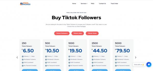 Social Packages - Buy TikTok Shares