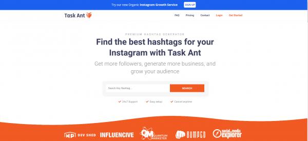Task Ant - hashtag generator
