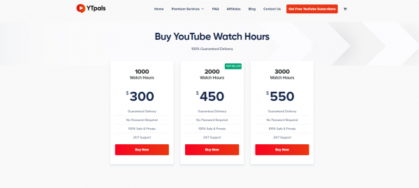 YT pals - Buy YouTube Watch Time
