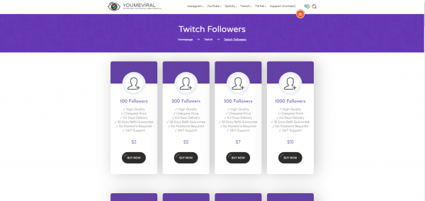 You Me Viral- Buy Twitch Followers