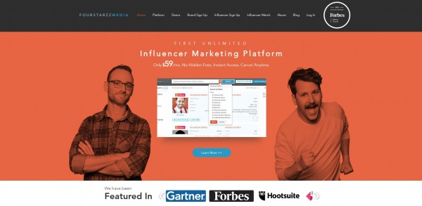 fourstarzz - Influencer Marketing Tools