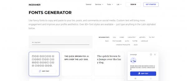 ingramer - Instagram Font Generator