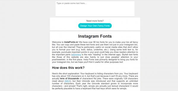 instafonts - Instagram Font Generator