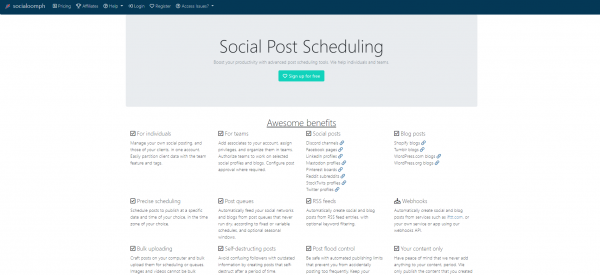socialoomph - hootsuite alternatives