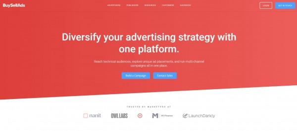 BuySellAds - AdSense Alternatives