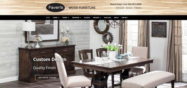 Faveri's Wood Furniture - Furniture Stores In Winnipeg