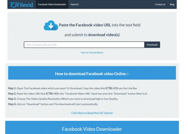 Filevid - Facebook Video Downloader