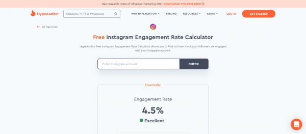 HypeAuditor: Instagram Engagement Rate Calculator