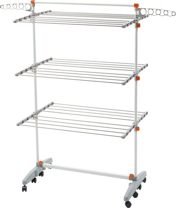 Idee foldable rolling laundry rack