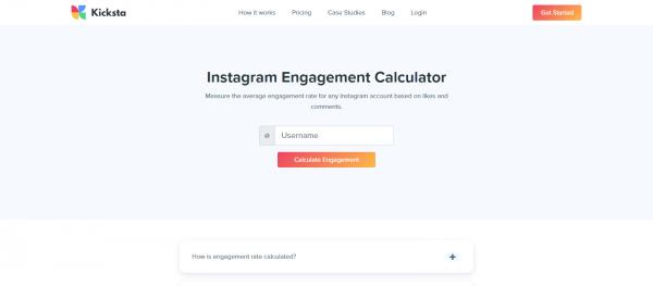 Kicksta: Instagram Engagement Rate Calculator