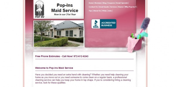 Pop-Ins Maid Service