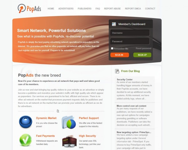 PopAds - AdSense Alternatives