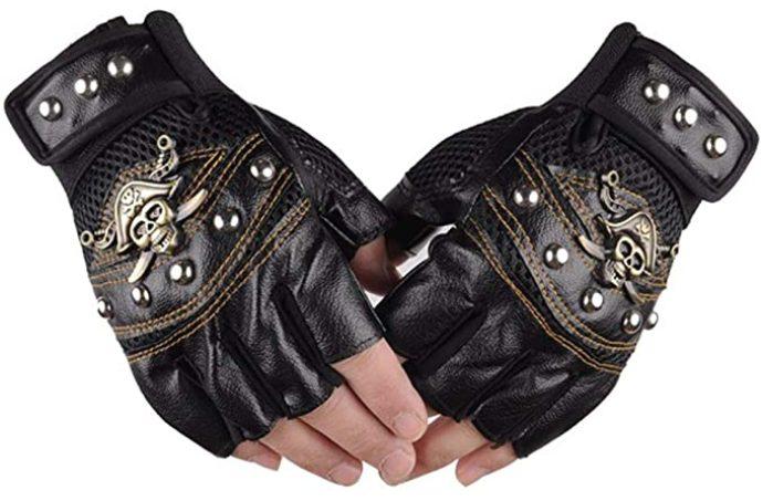 Purfun Fingerless Leather Gloves