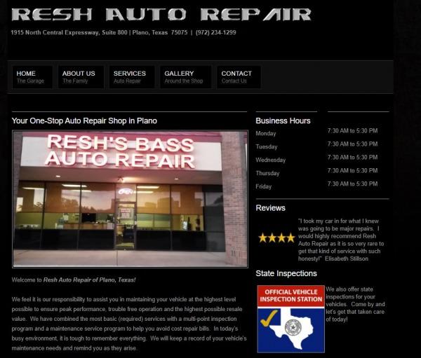 Resh's Bass Auto Repair - Auto Repair Plano