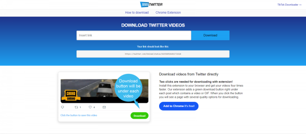 SSSTwitter: Twitter Video Downloader