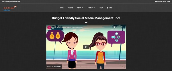 Social Aider - Twitter Scheduling Tool