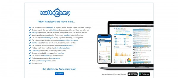 Twitonomy: Twitter Analytics Tool