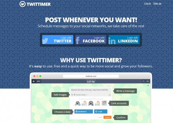 Twittimer - Twitter Scheduling Tool